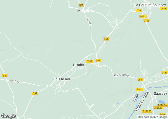 Map for l-habit, Eure, France