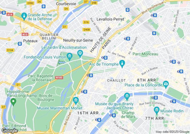 Map for Villa Said, Foch, Paris