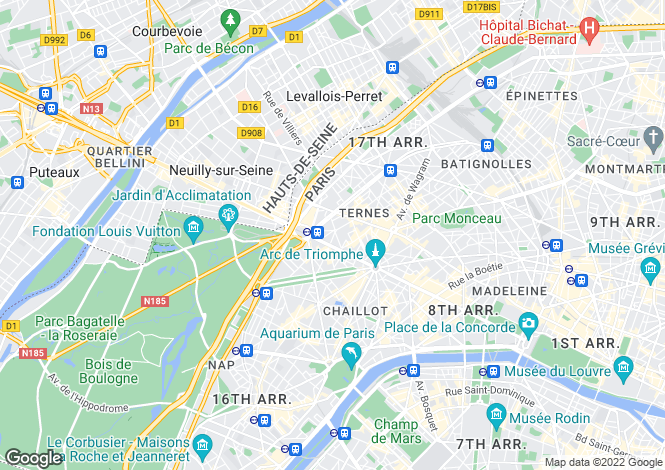 Map for Saint Ferdinand, Porte Maillot, Paris