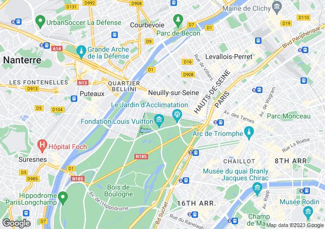 Map for France - Paris-Isle of France, Hauts-de-Seine, Neuilly-sur-Seine
