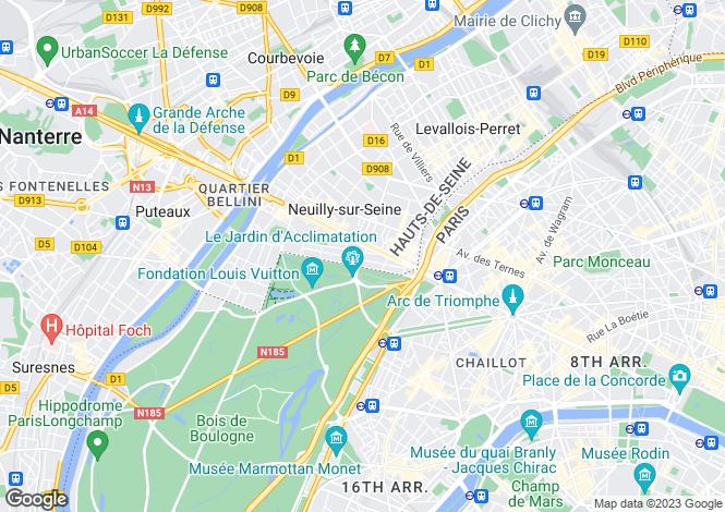 Map for Paris-Isle of France, Hauts-de-Seine, Neuilly-sur-Seine
