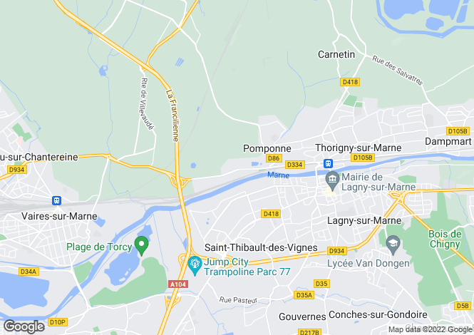 Map for pomponne, Seine-et-Marne, France