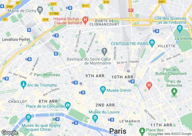 Map for Avenue Franchot, Nouvelles Athenes, Paris