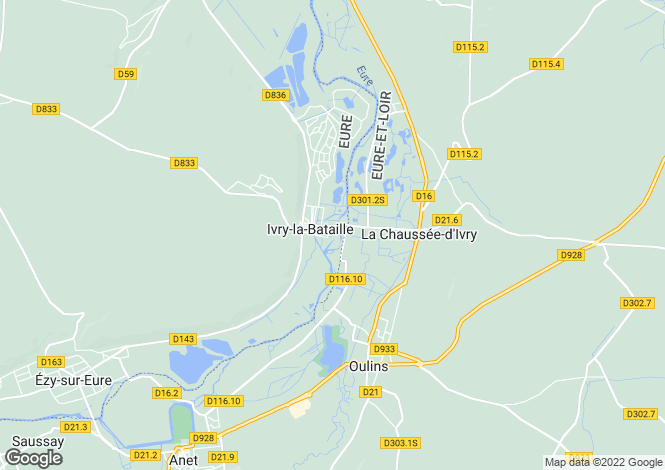 Map for Normandy, Eure, Ivry-la-Bataille