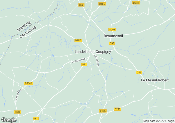 Map for landelles-et-coupigny, Calvados, France
