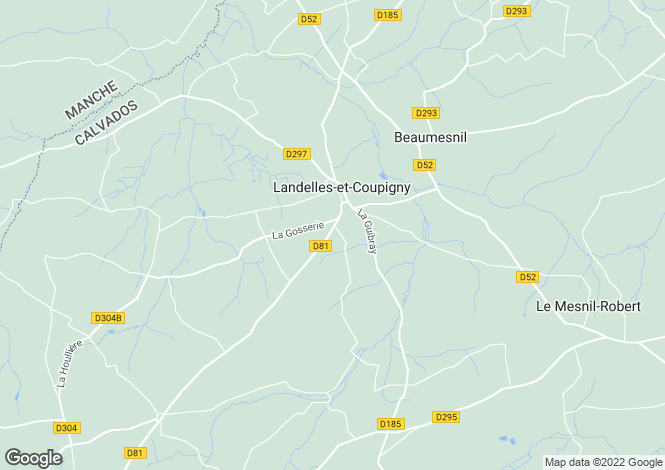 Map for Normandy, Calvados, Landelles et Coupigny