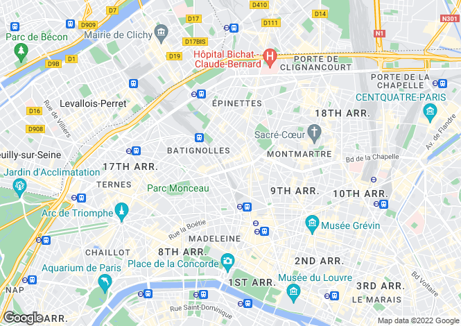 Map for Paris 17 Batignolles-Monceau, Île-de-France