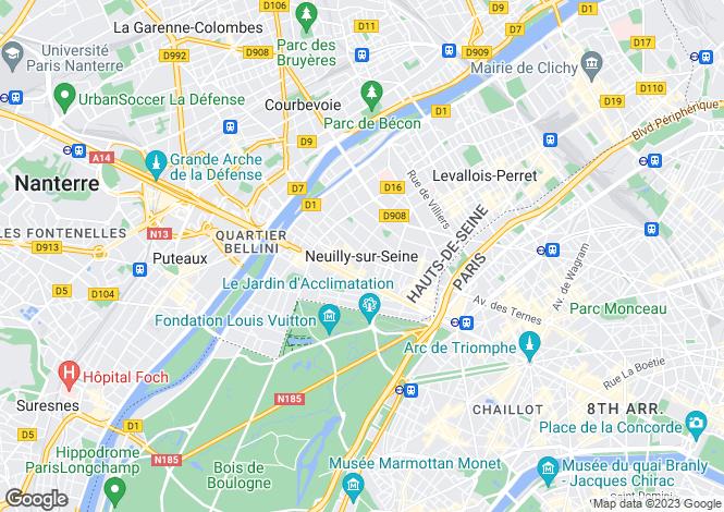 Map for Paris - Neuilly-Sur-Seine, France