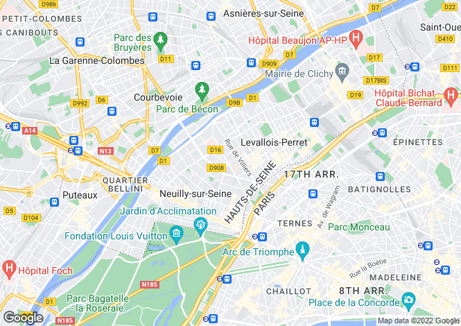 Map for NEUILLY SUR SEINE, Île-de-France