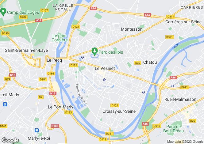 Map for LE VESINET, Île-de-France
