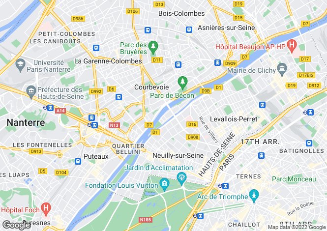 Map for Neuilly-sur-Seine, Hauts-de-Seine, Paris-Isle of France