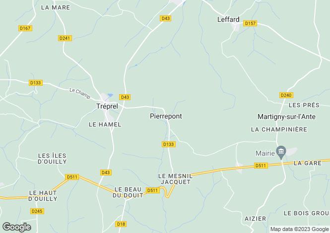 Map for pierrepont, Calvados, France