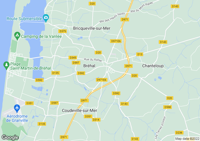 Map for Normandy, Manche, Bréhal