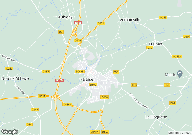 Map for falaise, Calvados, France