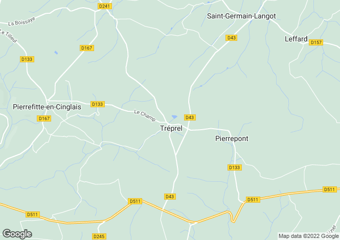 Map for Normandy, Calvados, Tréprel