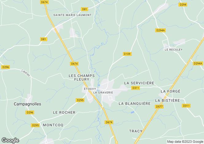 Map for , Calvados, France