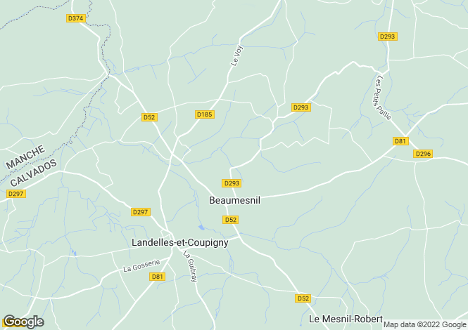 Map for beaumesnil, Calvados, France
