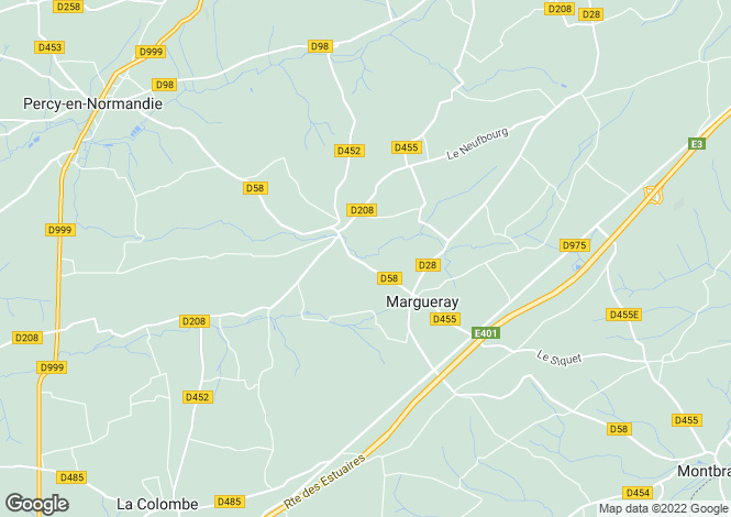 Map for 50410 LE CHEFRESNE, Manche, France
