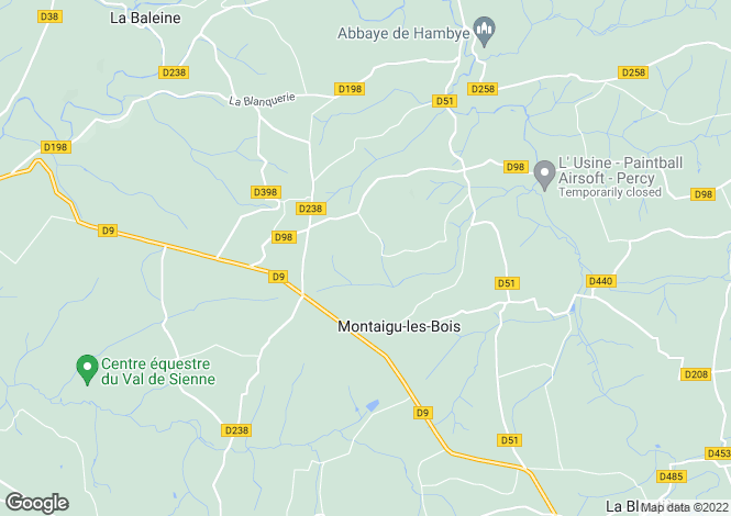 Map for montaigu-les-bois, Manche, France