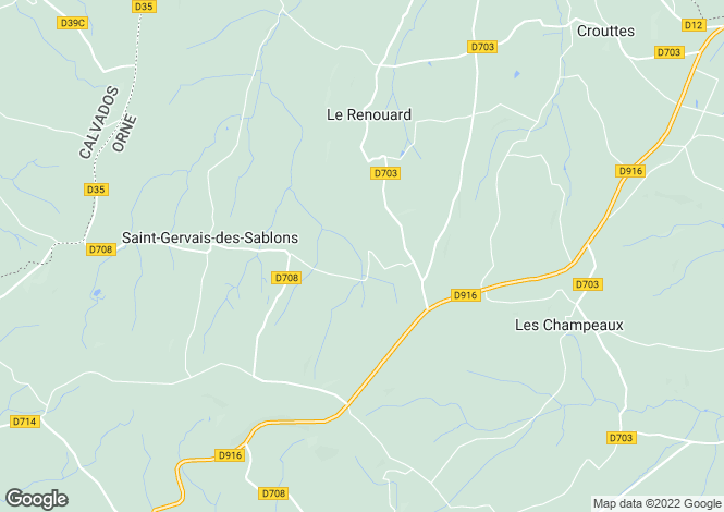 Map for le-renouard, Orne, France