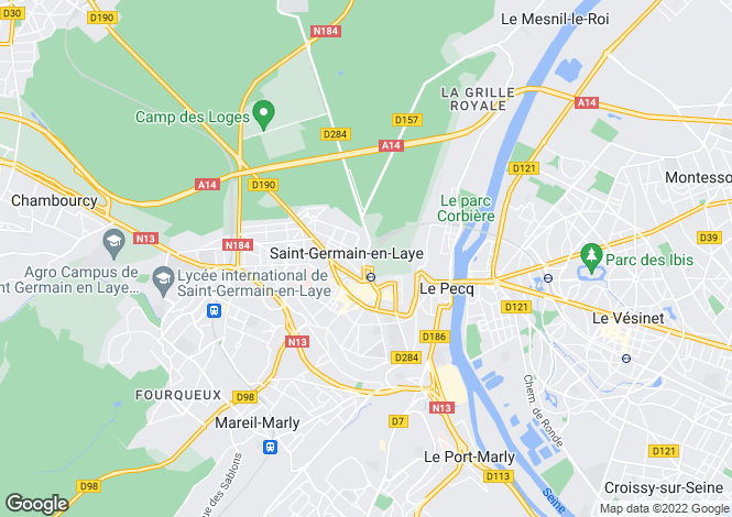 Map for st-germain-en-laye, Yvelines, France