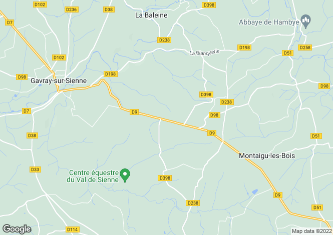 Map for Gavray, Manche, Normandy