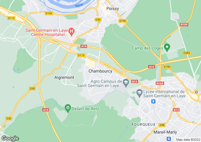 Map for Paris-Isle of France, Yvelines, Chambourcy