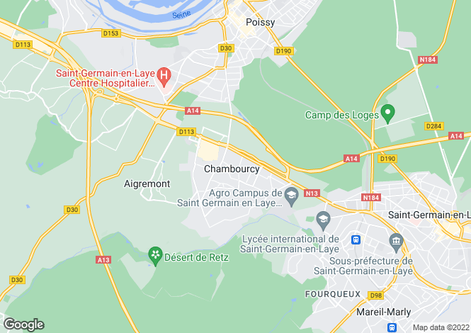 Map for chambourcy, Yvelines, France