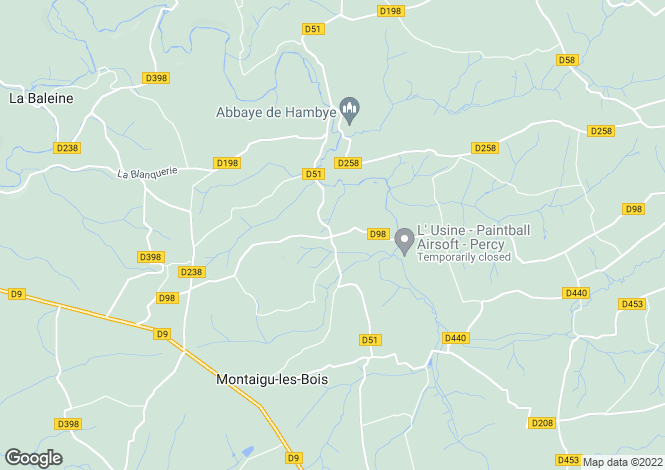 Map for Sourdeval-les-Bois, Manche, Normandy