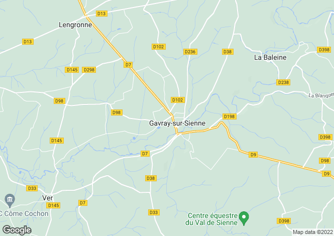 Map for GAVRAY, 50450, France