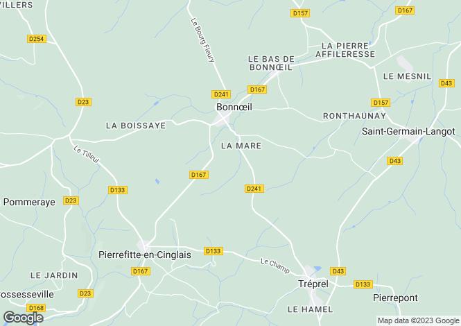 Map for bonnoeil, Calvados, France