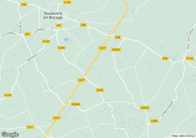 Map for Beaulieu, Calvados, Normandy