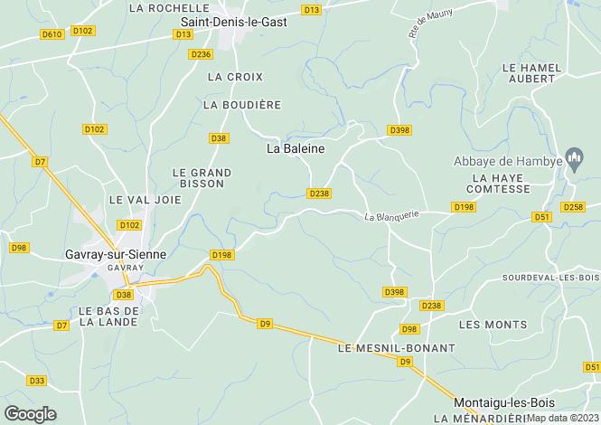 Map for Normandy, Manche, La Baleine