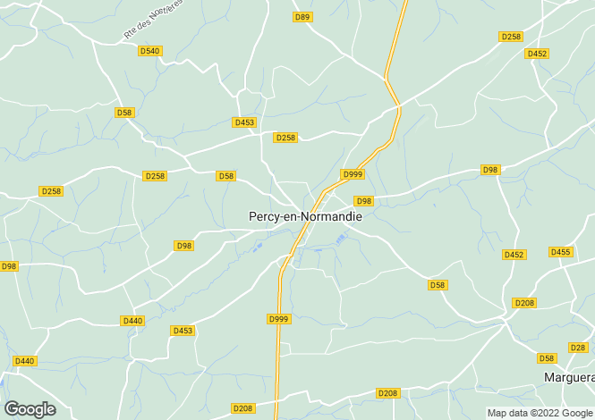 Map for Normandy, Manche, Percy
