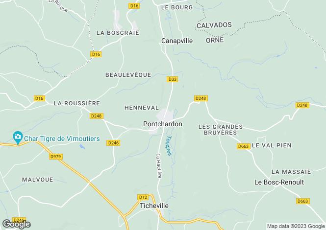 Map for Normandy, Orne, Pontchardon