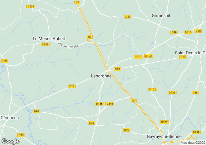 Map for Lengronne, Manche, Normandy