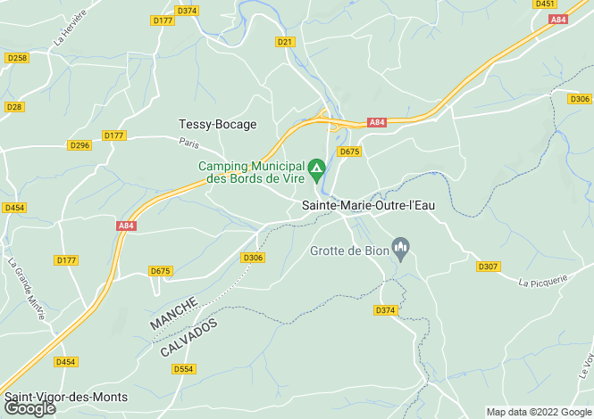 Map for pont-farcy, Calvados, France