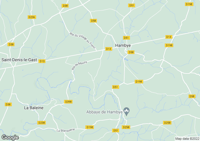 Map for HAMBYE, 50450, France