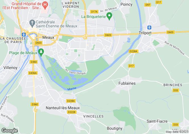 Map for Paris-Isle of France, Seine-et-Marne, Meaux