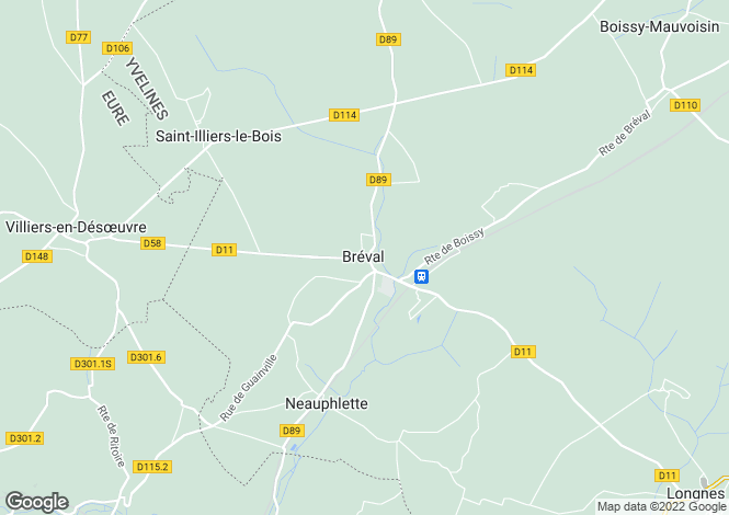 Map for breval, Yvelines, France