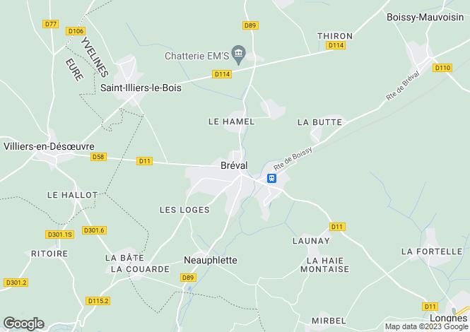 Map for Paris-Isle of France, Yvelines, Bréval