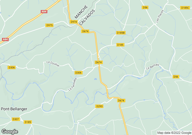 Map for Normandy, Calvados, near Campeaux