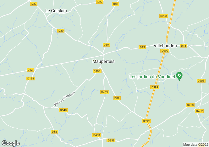 Map for maupertuis, Manche, France