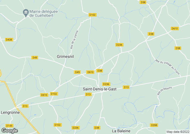 Map for Normandy, Manche, St-Denis-le-Gast