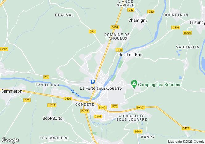 Map for la-ferte-sous-jouarre, Seine-et-Marne, France