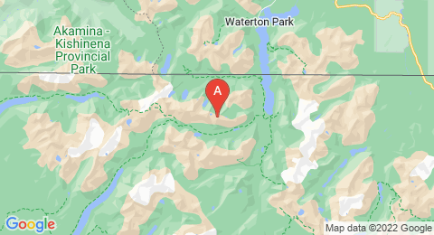 map of Shaheeya Peak (United States of America)