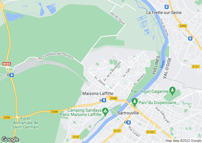 Map for maisons-laffitte, Yvelines, France