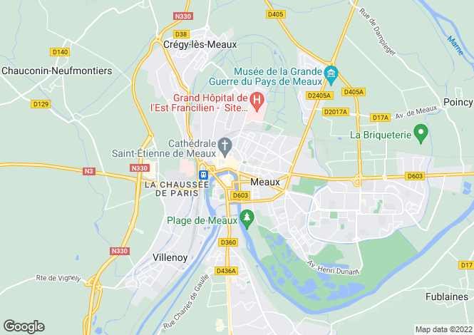 Map for Paris-Isle of France, Seine-et-Marne, Meaux