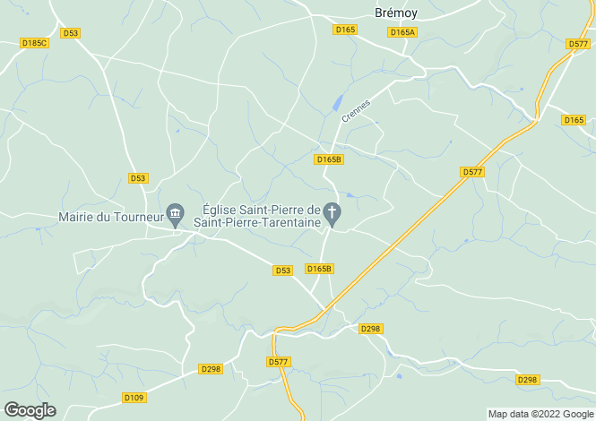 Map for Normandy, Calvados, Saint Pierre Tarentaine