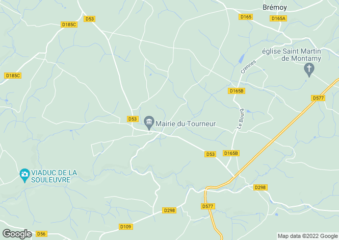 Map for Le Tourneur, Calvados, Normandy